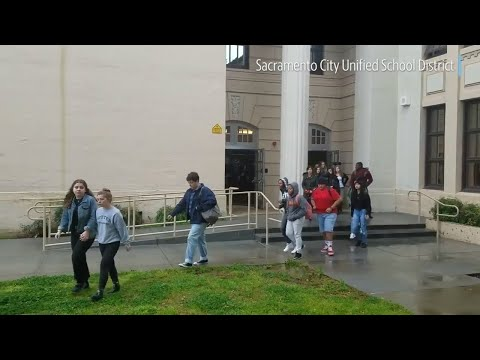 Student walkout protest: McClatchy High students protest for better gun laws, safer schools