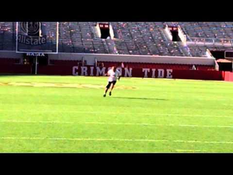 Touchdown run at Alabama