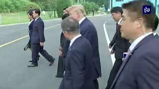 دونالد ترمب.. أول رئيس أمريكي يدخل أراضي كوريا الشمالية  - (30-6-2019)