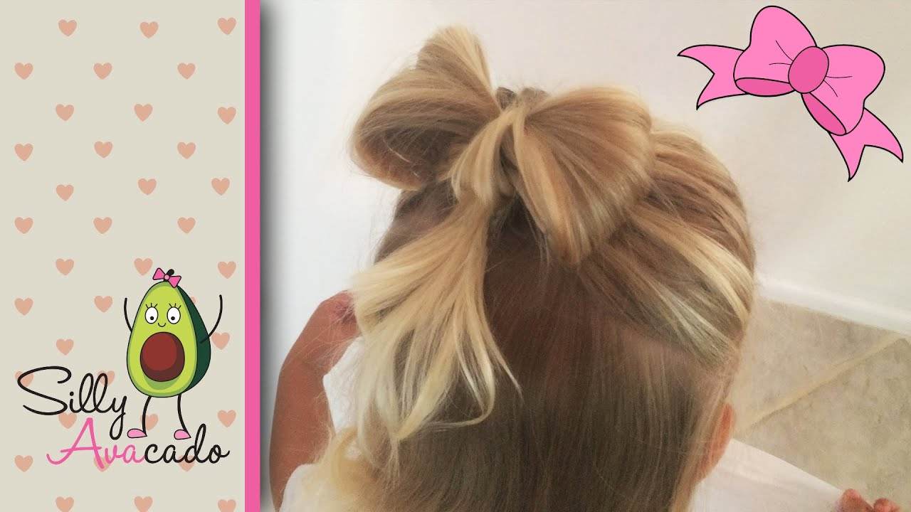 hair bow hairstyle tutorial ❤ easy & cute ❤ how to do a hair bow