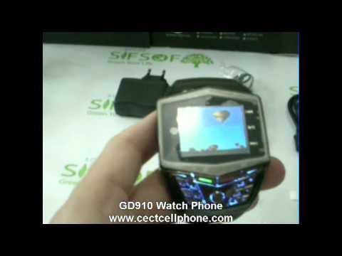 GD910 Watch phone Black