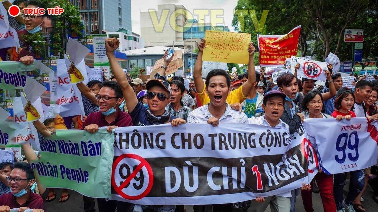 Image result for Biểu tình phản đối Dự Luật Đặc Khu tại Hà Nội ngày 10.06.2018.