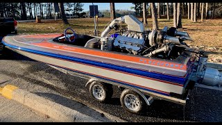 First Fire! Insane 711ci Twin Turbo Hemi Jet Boat is Alive: Finnegan's Garage Ep.93