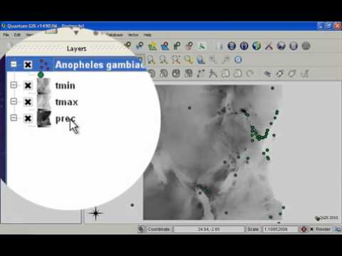 Creating a simple model using the openModeller QGIS plugin