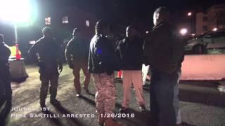 Pete Santilli arrested. 1/26/2016