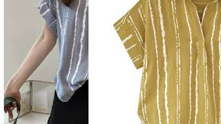 대형 여름 여성 셔츠 하라주쿠 탑 배트 윙 소매 스트라…