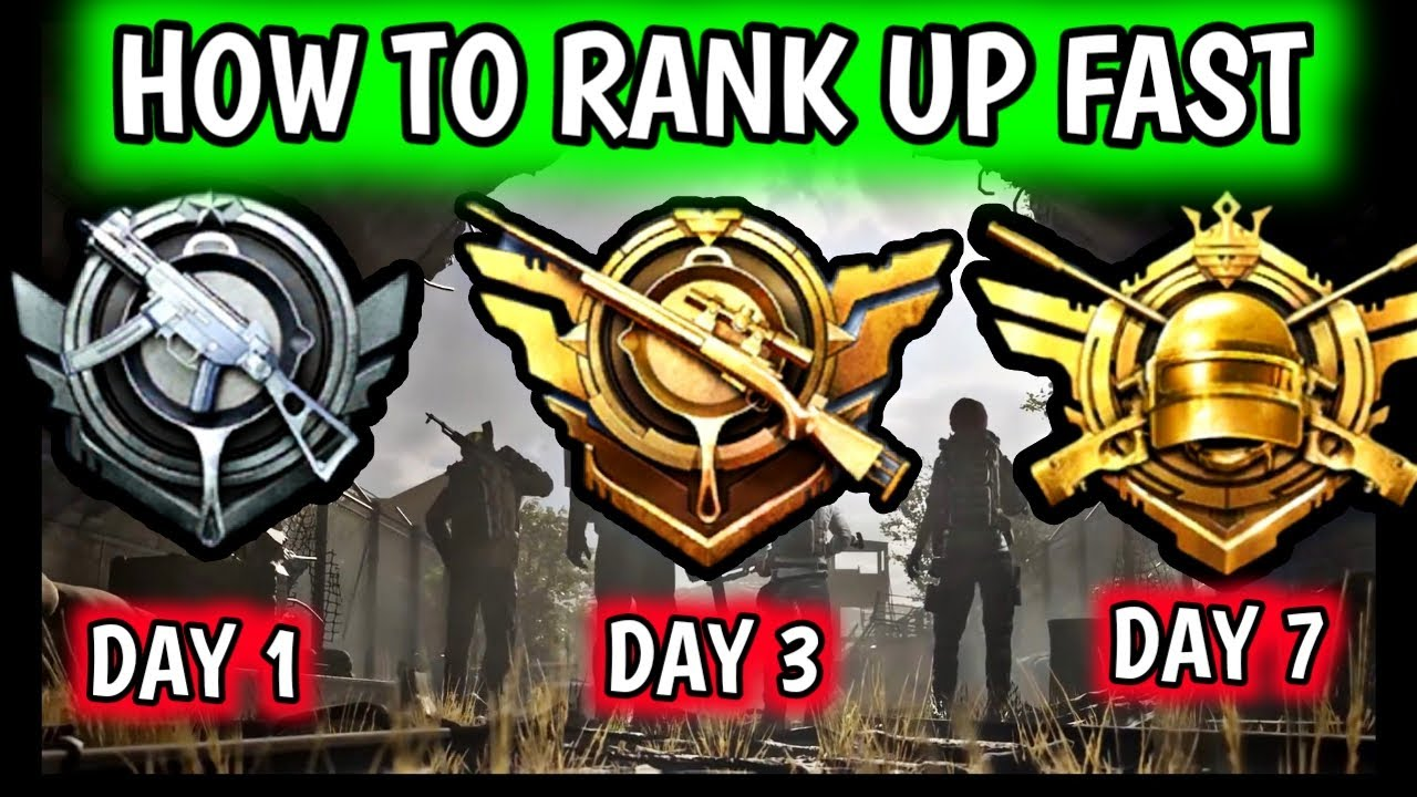 HOW TO RANK PUSH FAST IN PUBG MOBILE ? GET ACE IN 3 DAYS ? EASY WAY TO REACH CONQUEROR IN 7 DAYS