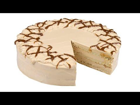 Торт Нежный - песочные коржи и творожно-карамельный крем. Пошаговый рецепт.
