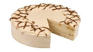 """Торт """"Нежный"""" - песочные коржи и творожно-карамельный крем. Пошаговый рецепт."""