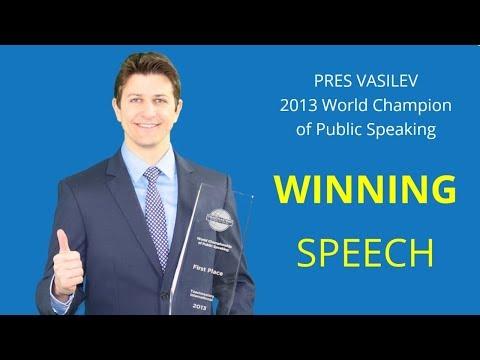 Pres Vasilev   World Champion of Public Speaking (2013)