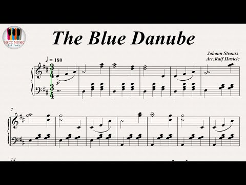 The Blue Danube - Johann Strauss, Piano