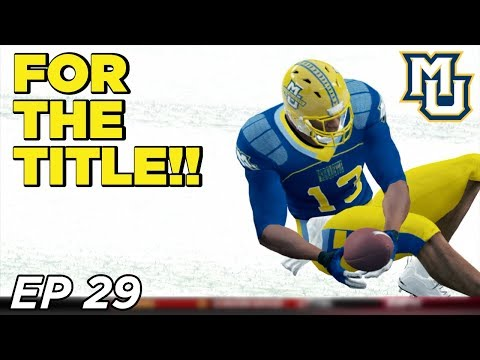 NCAA Football 14 Dynasty | Marquette - CHAMPIONSHIP GAME! Life without BROWN - Ep 29