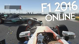 F1 2016 Online Gameplay - FIRST CORNER CARNAGE!!!