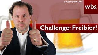 🍺 Mit einfachem Trick zum Freibier 🍺? | - Challenge WBS - Rechtsanwalt Christian Solmecke