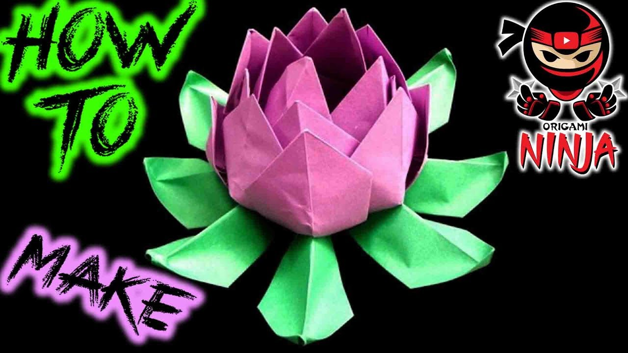 How to make origami lotus flower youtube how to make origami lotus flower izmirmasajfo Images
