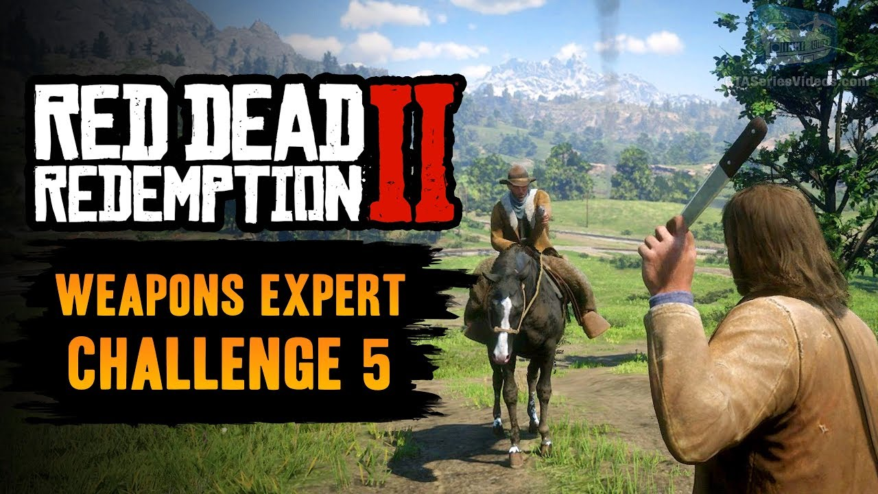 Red Dead Redemption 2 Weapons Expert Challenge #5 Guide - Kill 5
