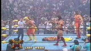 видео WCW Monday Nitro. 05 октября 1998. Bret Hart vs. Sting Street Fight.