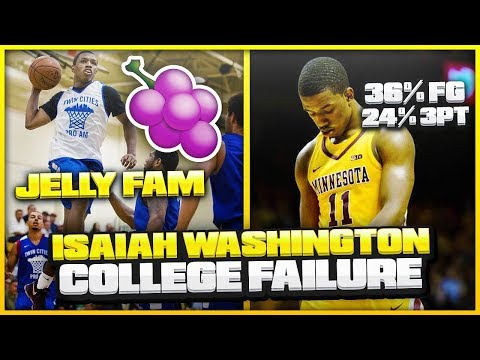 What Went WRONG With ISAIAH WASHINGTON'S Freshman Year At Minnesota?  Will JELLY FAM Make The NBA?