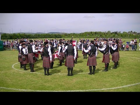 UDDINGSTON  STRATHCLYDE PIPE BAND AT THE BRITISH PIPE BAND CHAMPIONSHIPS 2018