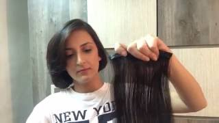 How to wear Clip On Hair Extensions - by Velvet Extensions India