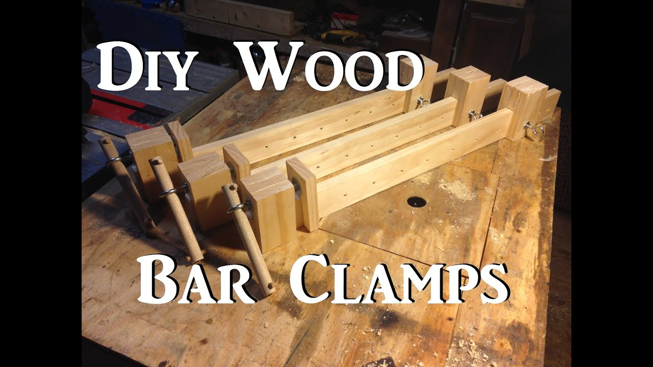 Diy wooden bar clamps youtube for Diy wood bar