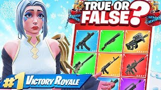 TRUE or FALSE to GET YOUR LOOT - Fortnite Battle Royale Trivia Jeu