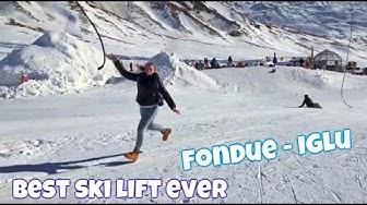 Fondue Iglu Engstligenalp - Coolest ski lift ever and best swiss cheese in switzerland