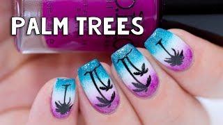Easy Palm Tree Nail Art   Bundle Monster Rub on Stickers
