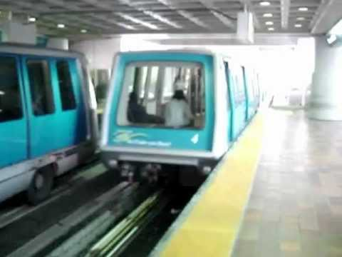 Miami MetroMover train departing from Government Center station