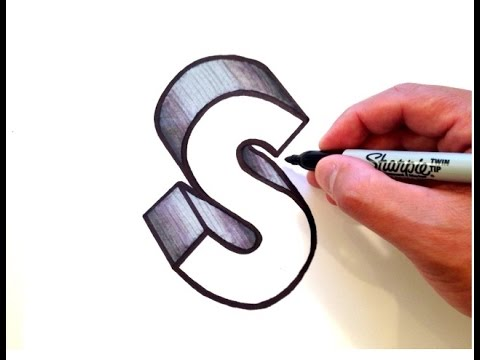 How to Draw the Letter S in 3D - YouTube
