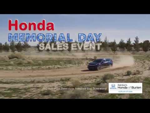 Honda Memorial Day Sales Event | Specials, Deals, & Offers | Rairdon's Honda of Burien