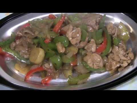Chicken Stir Fry On Sizzling Hot Plate     (Special Chinese Cooking)