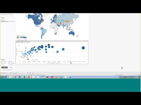 How to Create a Visualization and Publish to Tableau Public - Quality of Life Index Data