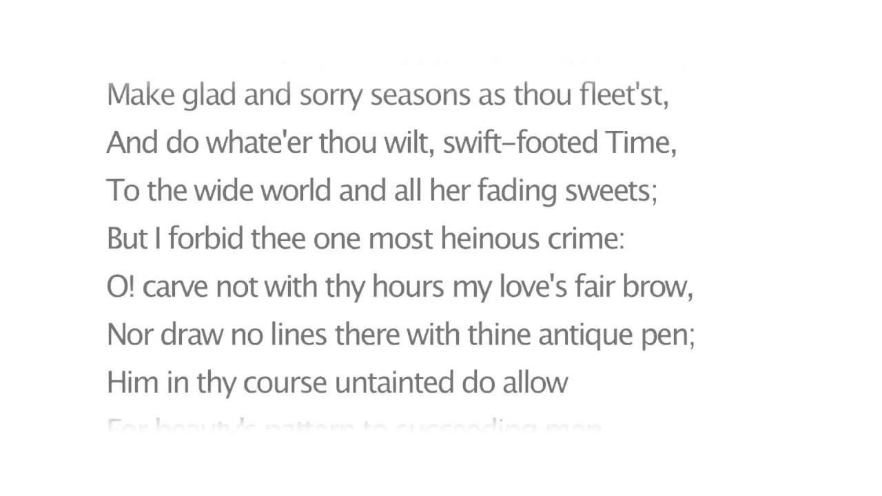 shakespeare sonnet 19 summary