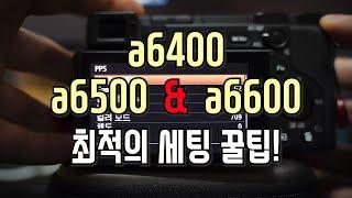 a6400(소니카메라)최적의 세팅을 찾아보자!! [설정꿀팁]