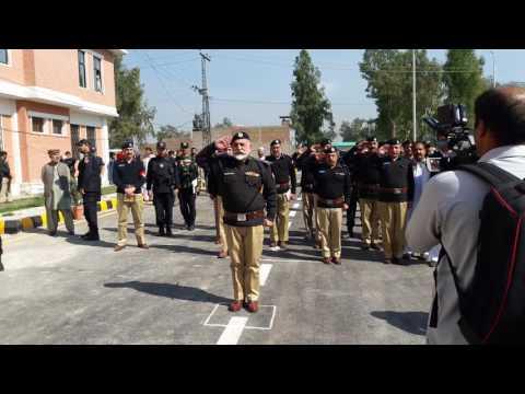 Charsadda police assistance lines salami to IG Kp