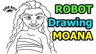 moana drawing easy