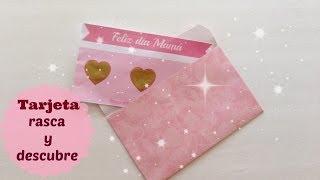Tarjeta para mamá (rasca y gana)regalo