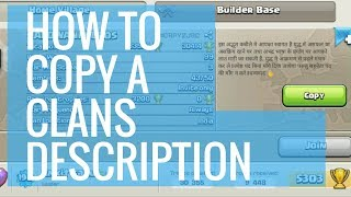 How to copy a Clans Description | Clash of Clans