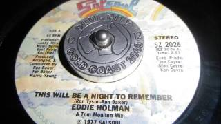 Eddie holman This will be a night to remember