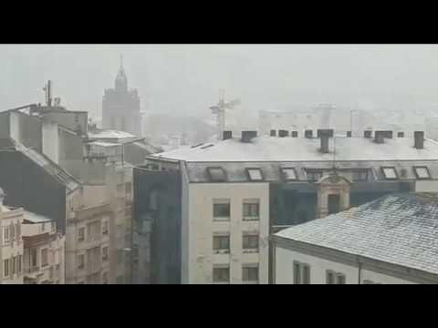 Mucho frío y un pequeño manto blanco en Lugo