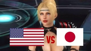 DOA5LR English Vs Japanese Voice Comparison (Part 9 ) (Genfu, Ein, Rachael)