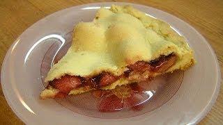 Клубничный пай, или Закрытый пирог в духовке - видео рецепт
