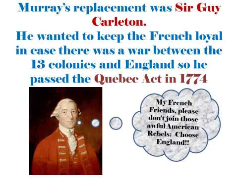 History of Quebec and Canada 1760 1848