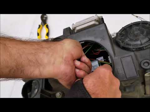 How to remove the headlights and replace bulbs on 2008 Range Rover Sport