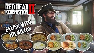 Red Dead Redemption 2 - Eating with Jim Milton, food & saloons.