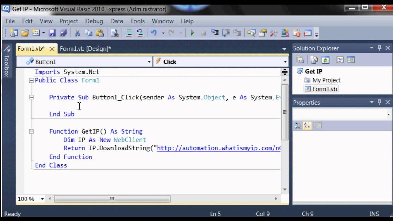 Vb Net Get Public Ip Address On Visual Basic
