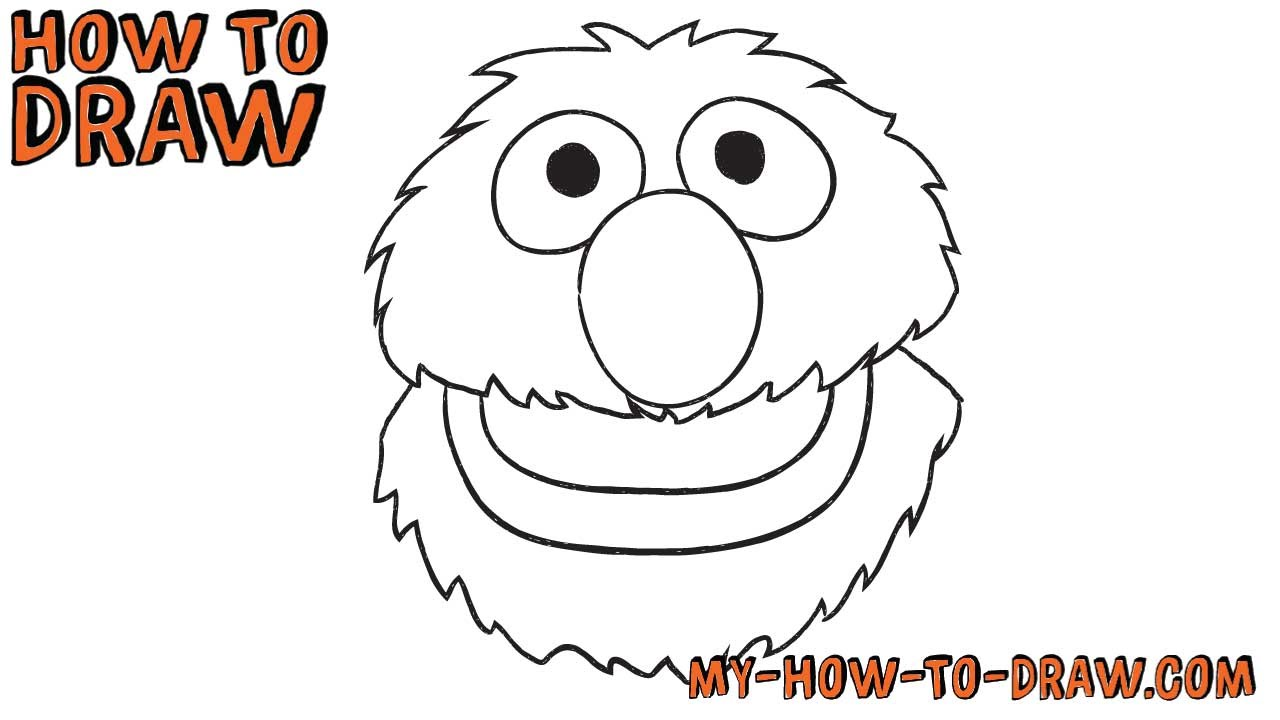 how to draw grover from sesame street easy step by step drawing tutorial youtube