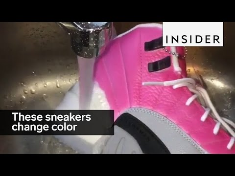 This sneaker designer makes sneakers that change color