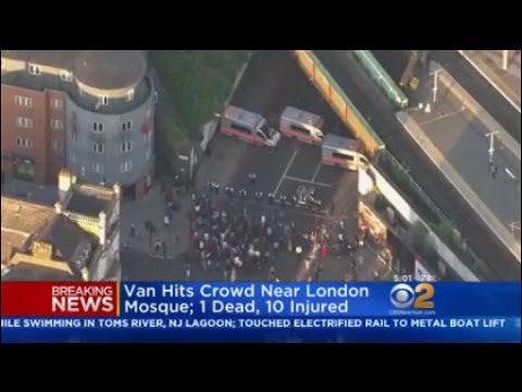 Van Hits Crowd Near London Mosque